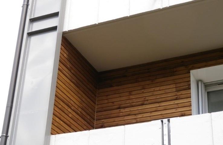 Bardage et isolation exterieure d 39 immeuble et de - Habillage balcon ...